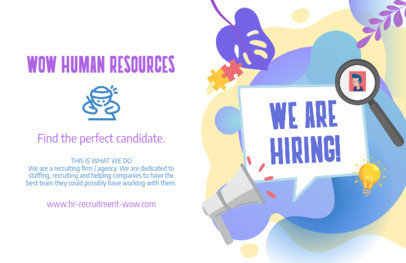 Colorful Flyer Maker for an HR Job Posting 729a