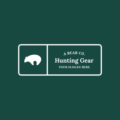 Badge Logo Maker for Hunting Stores 1784a