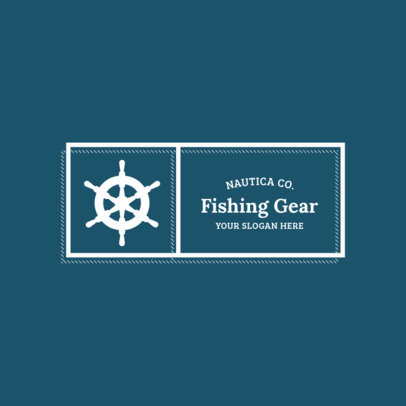 Rectangular Logo Maker for Fishing Supplies Store 1784b