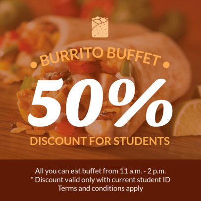 Discount Coupon Template for Restaurants 1008