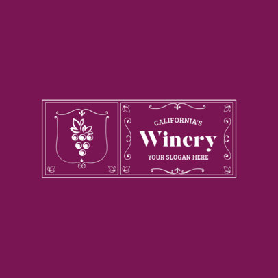 Badge Logo Maker for Winery Stores 1784e