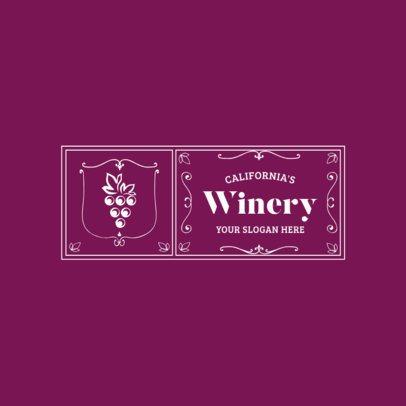 Badge Logo Maker for Winery Stores 1784e