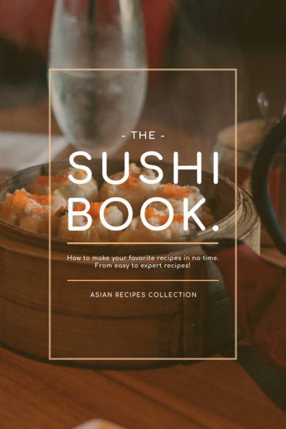 Sushi Cookbook Cover Template 920a