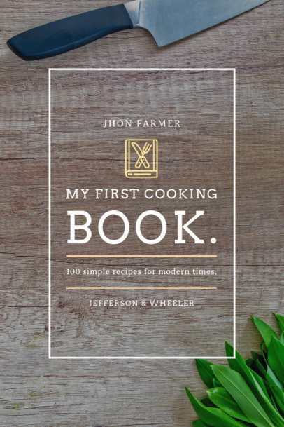 Cooking Book Cover Template for a Basic Cooking Book 920c
