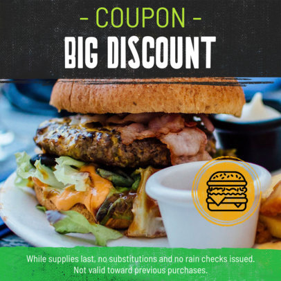 Food Coupon Design Template for Diners and Restaurants 1033