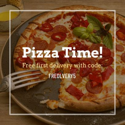 Coupon Design Template for a Pizza Restaurant Promo 1016c
