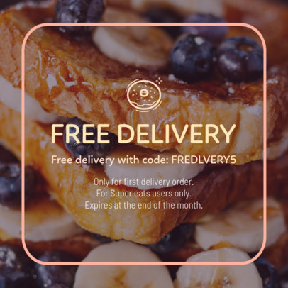 Free Delivery Coupon Design Template 1016d