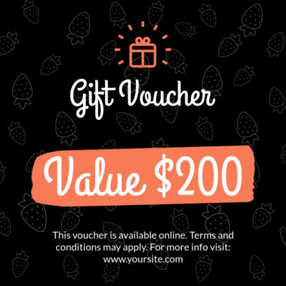 Coupon Design Template for Gift Vouchers 1027