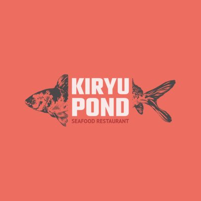 Logo Maker for a Seafood Restaurant with Fish Clipart 1800c