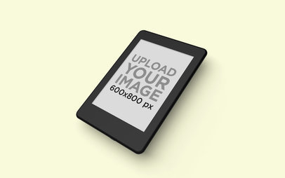 Kindle Mockup Lying over a Flat Background 26141