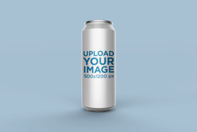 Mockup of a Large Can Standing over a Plain Surface 26113