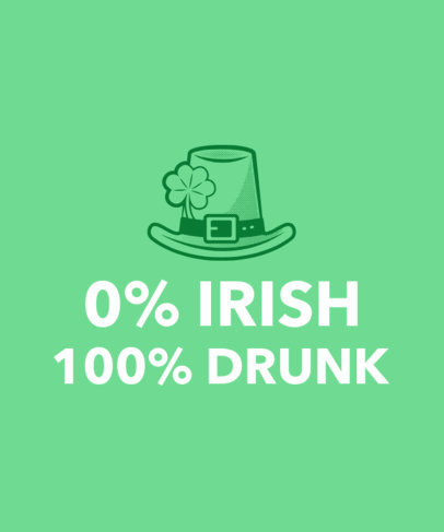 Funny T-Shirt Design Template for St. Patty's Day 1131b