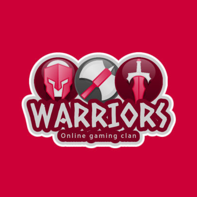 eSports Logo Design Template for an RPG Warriors Team Logo 1742a