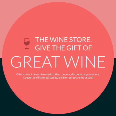 Customizable Coupon Template for a Wine Store 1034