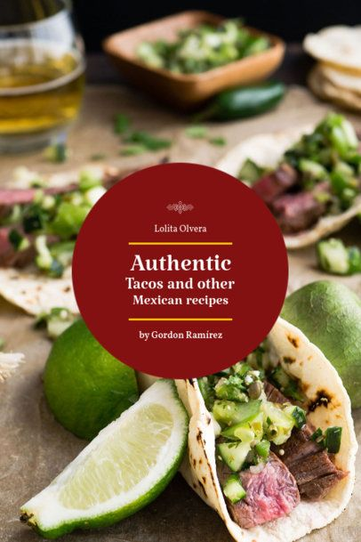 Recipe Book Cover Maker for a Tacos Recipe Book 914d