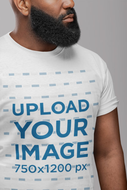 Cropped Face Mockup of a Man with a Thick Beard 21524