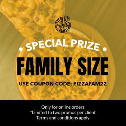 Pizza Coupon Design Template 1008e