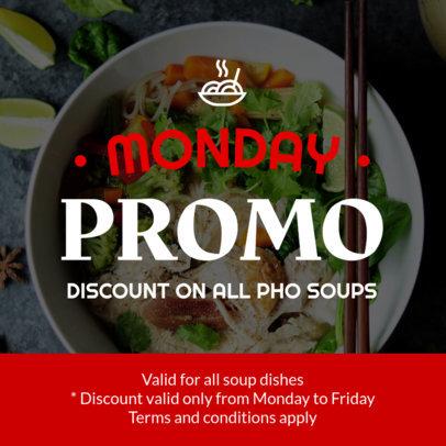 Discount Coupon Design Template for an Asian Food Promo Coupon 1008b