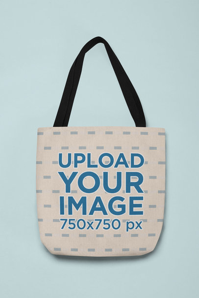 Mockup of a Flat Laid Tote Bag 24833