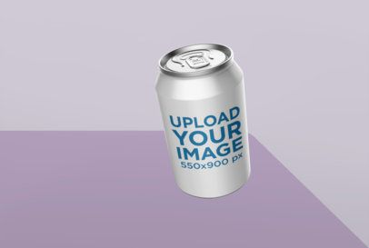 Label Mockup of a 330ml Can in a Minimalistic Setting 26122