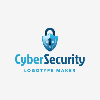 Minimalistic Cyber Security Logo Maker 1790