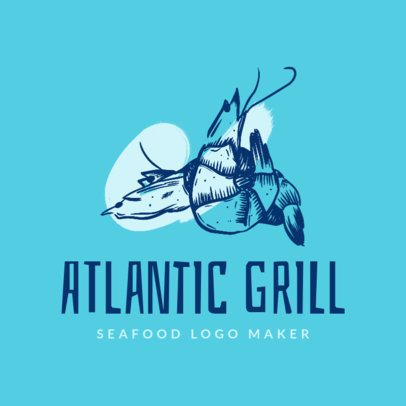 Seafood Restaurant Logo Generator for a Seafood Grill 1798f