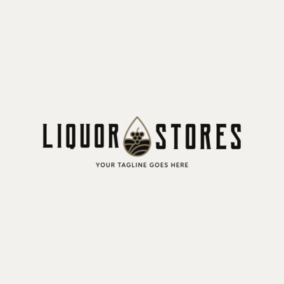 Simple Liquor Store Logo Design Template 1812