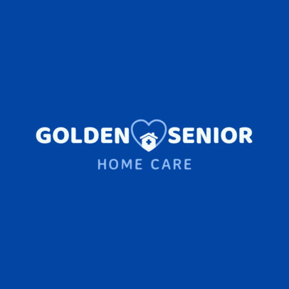 Senior Home Health Care Logo Template 1804d
