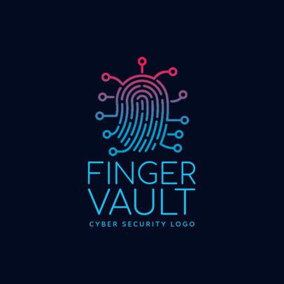 Security Logo Maker with Fingerprint Clipart 1790a