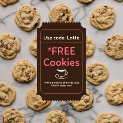 Coupon Design Template For a Cookies Giveaway 1023a