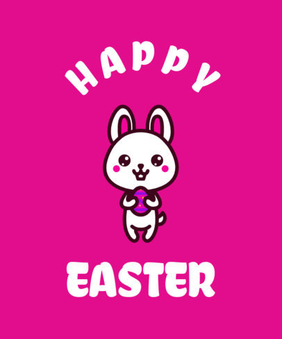 Cute Easter T-Shirt Design Template 37f