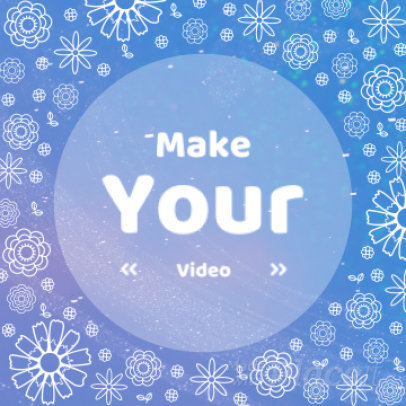 Instagram Video Maker for a Promo Video with Floral Motion Graphics 1345 - 807i