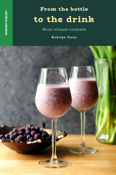 Modern Book Cover Template for Cocktail Recipes 919b