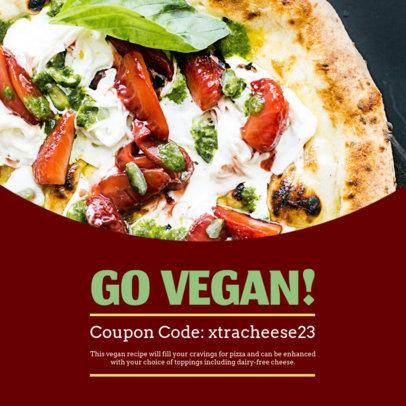 Coupon Template for a Vegan Food Promo 1009a