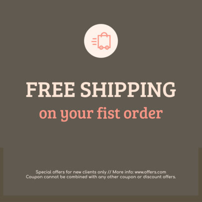 Coupon Maker for a Free Shipping Coupon 1006d
