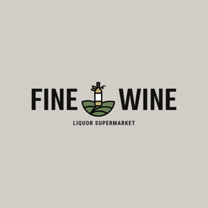 Liquor Store Logo Maker for a Wine Shop 1812a