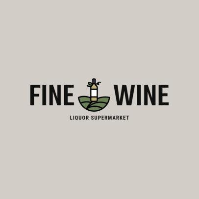 Liquor Store Logo Maker for a Wine Shop 1812a