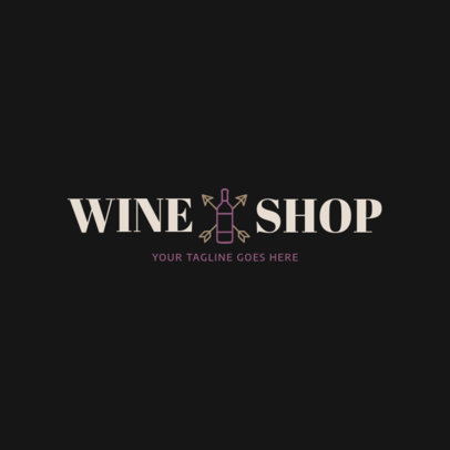 Liquor Store Logo Maker for a Cool Wine Shop 1812c