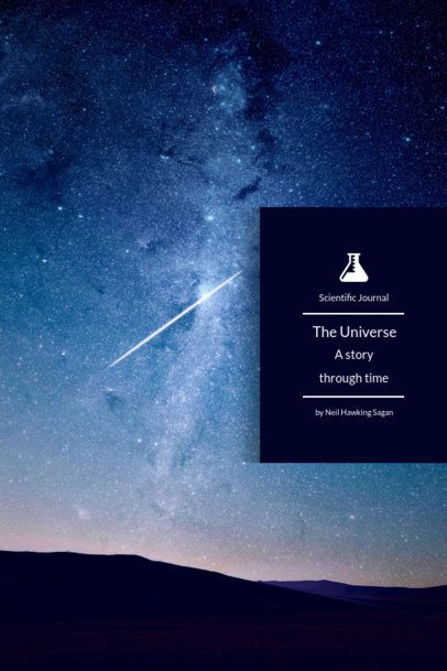 Minimalistic Book Cover Design Template for a Science Book 1194