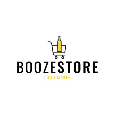 Liquor Store Logo Maker with Simple Booze Clipart 1814