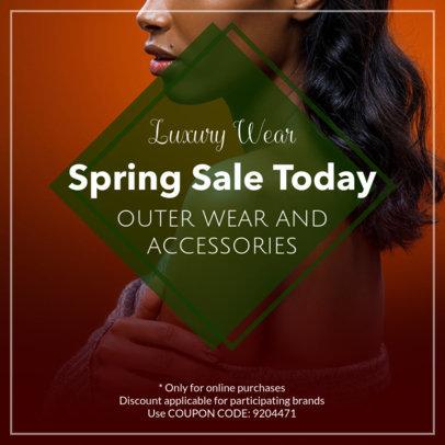 Spring Sale Coupon Design Template 1024e