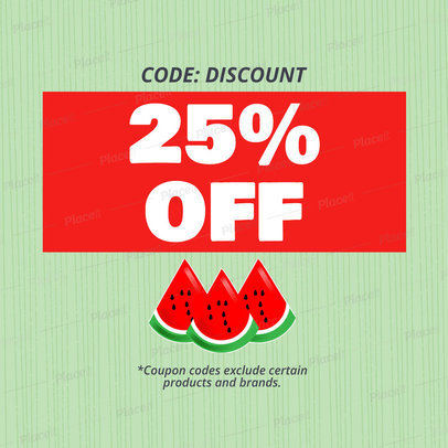 Coupon Design Template for a Promotional Discount 1029