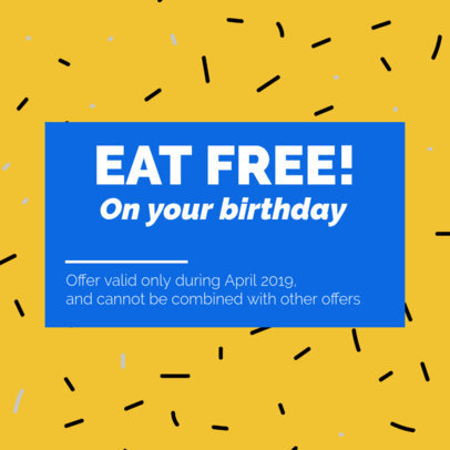 Colorful Coupon Template for a Free Birthday Coupon 1021c