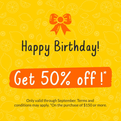 Birthday Coupon Design Template 1027a