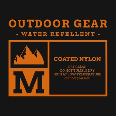 T-Shirt Tag Design Template for an Outdoors Gear Brand 1133b