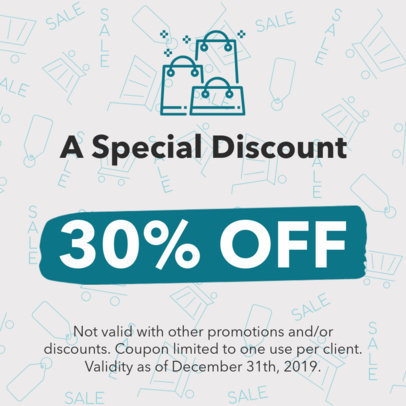 Special Coupon Design Template 1027d
