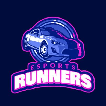 Racing Gaming Team Logo Maker with Cool Car Clipart 1745d