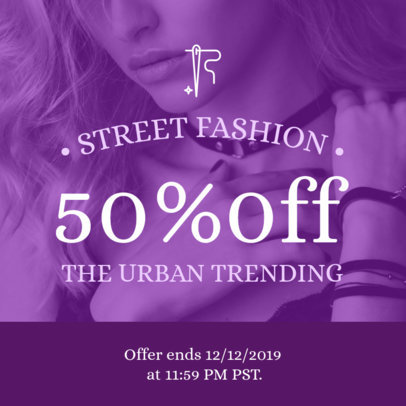 Coupon Design Maker for a Stylish Clothing Brand 1022
