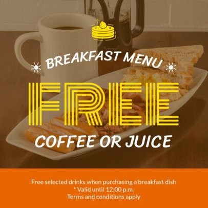 Coupon Design Template for a Breakfast Coupon 1008a