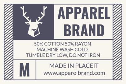 Horizontal T-Shirt Label Design Template 1143